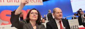 Nahles und Scholz auf Rettungsmission: SPD verordnet Ende der Personaldebatte