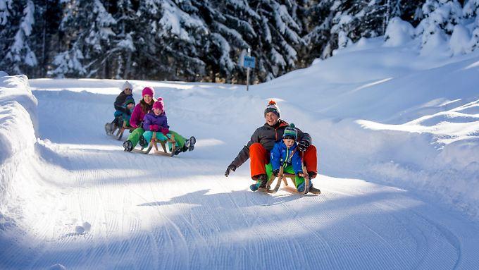 In den Alpen gibt es für Rodler perfekte Bedingungen.