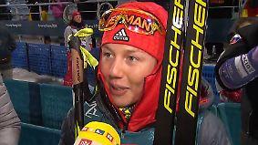 """Dahlmeier zur dritten Olympia-Medaille: """"Es war heute nicht einfach"""""""