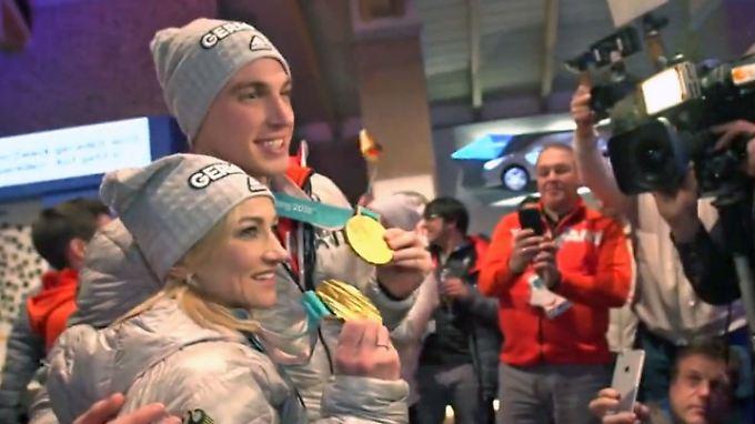 Video: Deutsches Olympiahaus versinkt in goldenen Tränen