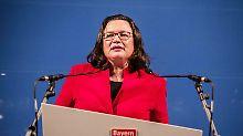 Urwahl der SPD-Spitze: Nahles geht auf die Parteilinke zu