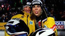 Im Frauen-Team der deutschen Bobfahrer hat eine Anschieberin die Aufmerksamkeit für sich: Annika Drazek.
