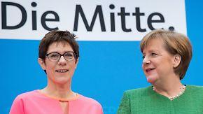 Neue CDU-Generalsekretärin: Merkel-Vertraute Kramp-Karrenbauer wechselt nach Berlin