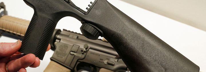 Kleine Korrektur des US-Waffenrechts: Trump möchte Schnellschuss-Vorrichtung verbieten lassen