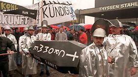 """Trotz """"Augenhöhe"""" war auch Gerhard Cromme nicht vor Belegschaftsprotesten gefeit."""