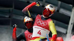 """Feiersong von Rodler Benecken: Athleten lassen """"Adrenalin"""" durch die Adern schießen"""