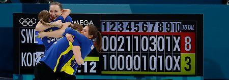"""Olympische Rockstars"" gestoppt: Schweden verdirbt Südkoreas Curling-Party"