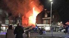 """Gebäude steht in Flammen: """"Massive Explosion"""" in Leicester"""