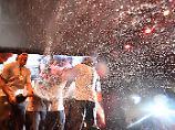 Vonn feiert mit Silber-Jungs: Eishockey-Sause bringt Technik zum Absturz