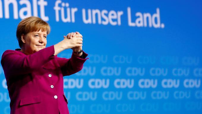 Bundeskanzlerin Angela Merkel ist zufrieden mit den Ergebnissen des CDU-Parteitags.