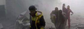 Umkämpftes Gebiet in Syrien: Waffenruhe in Ost-Ghuta bröckelt zu Beginn