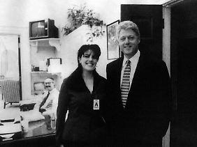 Der Präsident und seine Praktikantin - so war das vor 20 Jahren.
