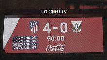 Rückstand auf Barca verkürzt: Atletico-Fans feiern Griezmann-Viererpack