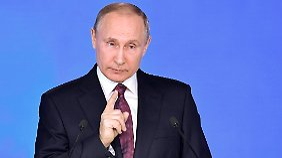 Kampfansage an die USA: Putin präsentiert neue Raketen