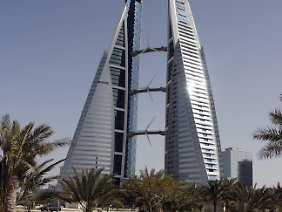 Bahrain World Trade Center in Manama.