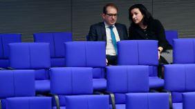 Dobrindt und Bär im Bundestag.