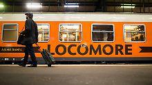 Der Locomore-Zug verkehrt zwischen Berlin und Stuttgart.