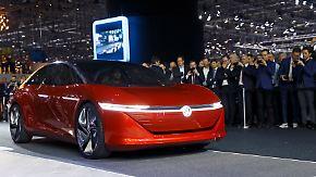 In Genf geht es um die Zukunft: ID Vizzion von VW fährt elektrisch und ohne Lenkrad