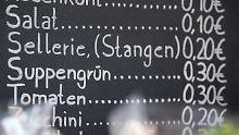 Preisliste der Tafel in Ulm.