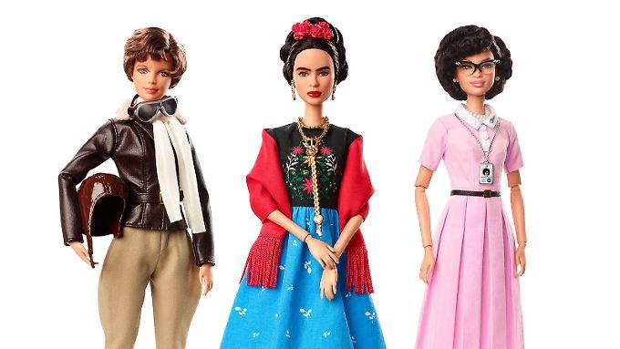 Pilotin Amelia Earhart, Malerin Frida Kahlo und Mathematikerin Katherina Johnson zählen zu den 14 neuen Barbies.