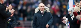Unzufriedenheit und Euphorie in Russland: Putin lässt sich vor Wahlen feiern