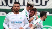 Abstiegskampf in Liga zwei: Fürth schlägt Kaiserslautern im Kellerduell