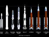 """Die """"Big Falcon Rocket"""" ist in diesem Größenvergleich die vierte Rakete von links."""