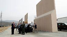 Prototypen in Kalifornien: Trump ist von Mauer-Modellen begeistert