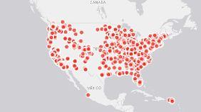 Über 3100 Schulen in den USA nehmen an der Protestaktion teil.