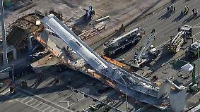 Tragisches Unglück in Miami: Hochmoderne Brücke stürzt auf Schnellstraße