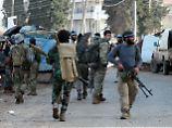 Kämpfer der Freien Syrischen Armee (FSA) in der Stadt Afrin.