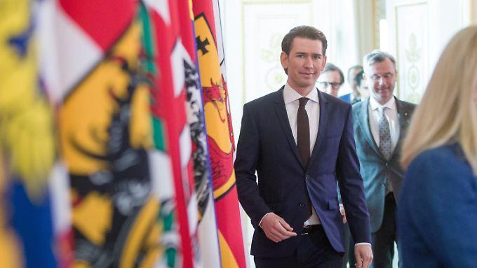 Österreichs Bundeskanzler Sebastian Kurz steht einer Koalition der konservativen ÖVP mit der rechtspopulistischen FPÖ vor.