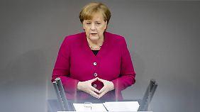 Flüchtlinge, Familienpolitik und Fahrverbote: Merkel skizziert in Regierungserklärung ehrgeizige Pläne