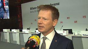 """Bahn-Chef Lutz im n-tv Interview: Manager sollten nicht """"außerhalb von Maß und Mitte unterwegs sein"""""""