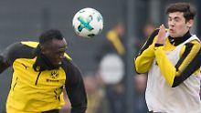 Reggae-Rummel beim BVB: Bolt brennt auf Fußball, Stöger zweifelt