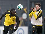 Reggae-Rummel beim BVB: Bolt brennt auf Fußball, Stöger bremst