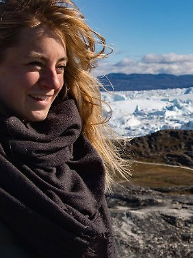 Nicole Bittger unterwegs in Grönland.