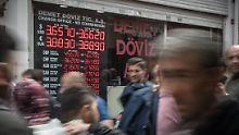 Sinkflug hält an: Türkische Lira fällt auf Rekordtief