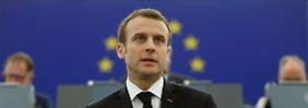 """Souveränität in stürmischer Zeit: Macron: """"Ich will kein Schlafwandler sein"""""""