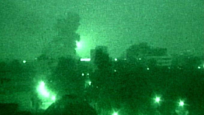 Angriff auf das nächtliche Bagdad im Frühjahr 2003.