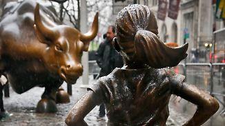 """Weg vom New Yorker Bullen: """"Furchtloses Mädchen"""" zieht vor die Börse"""