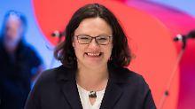Erste Frau an der Parteispitze: SPD wählt Nahles zur neuen Vorsitzenden