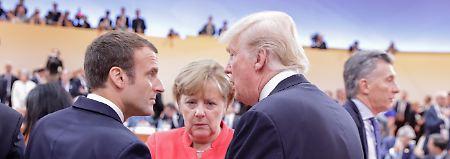 Macron und Merkel besuchen Trump: Worüber streiten Europa und die USA?