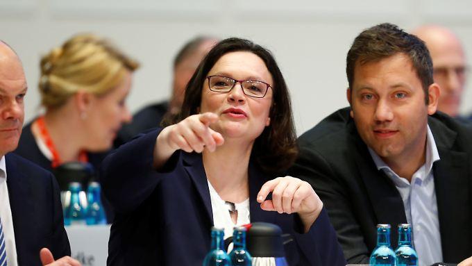Andrea Nahles will die SPD aus der Krise führen.