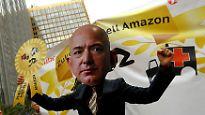 Axel Springer Award für Amazon-Chef: Hunderte Mitarbeiter protestieren gegen Preis für Jeff Bezos