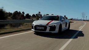 Heckantrieb erfordert flinke Finger: Audi R8 RWS entert die Straße mit viel Gebrüll