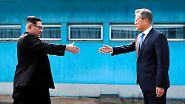Historischer Gipfel in Panmunjom: Kim Jong Un geht nach Südkorea