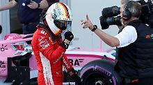 Die Faust geballt: Sebastian Vettel sichert sich seine 53. Pole Position.