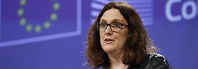 """Harte Maßnahmen gegen USA: EU kündigt """"dreifache Reaktion"""" an"""