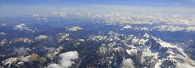 Die tiefstgelegene Mess-Sonde in den Alpen liegt 2771 Meter unter dem Meeresspiegel, die höchste in 3005 Metern Höhe.